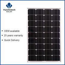 YuanChan Good Quality Mono 100W Solar Panel Price List