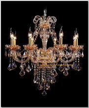 2014 New Model Luxury Lighting Fixture Amber Lights Fixture Crystal & Glass Lighting MD6609 L8