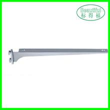 Supermarket metal shelf glass support bracket