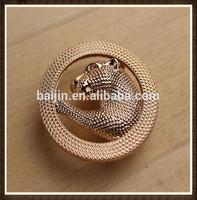 2014 latest fashion zinc alloy Leopard pattern Ring belt buckle
