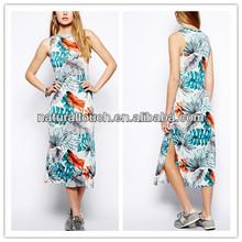 Brave Soul hawaiano Midi vestido para mujer 2014 ( YLQ03005 )