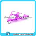 Purple acrylic triangle shape bowl for pets dog bowl cat bowl holder