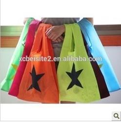 2614 custom candy-colored nylon folding shopping bags wholesale