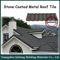 luxury villa roof tile.Stone coated roof tile, metal shingles prices roofing tile