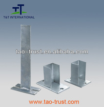 Construction columns and lighting steel post tailor made galvanized steel pedestal frame
