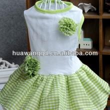 Wholesale dog green dress, pet green dress