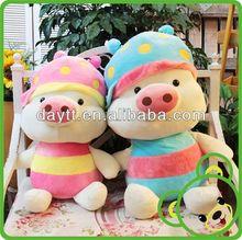 Carrefour supplier stuffed plush pink pig toy stuffed plush pig