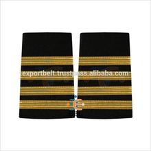 Buy 4 Bar Gold Epaulettes for Pilots Uniform | French Gold Wire Braid Epaulet on black