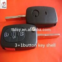 TD 3+1 button flip remote key shell/key case/key blank for VW