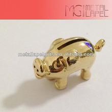 3D Gold pig /custom Keychain/3D metal model