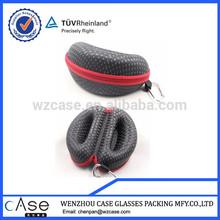 WZ 2014 leather EVA sunglass case with zipper H92