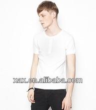 fashion blank men o-neck t shirt