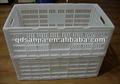 De plástico plegables de almacenamiento de cajas de herramientas duro doblado los casos de almacenamiento de alta calidad caro para cajas de vegetales de frutas cajones/jaulas embalaje