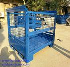 Warehouse Steel Pallet Cage Folding Mesh Storage Bin
