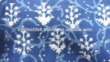KTCF-8 Multiple Use Designer Hand Block Printed Cotton Fabrics Dabu Printed Pure Cotton Fabric Indigo Blue Fabric From Jaipur