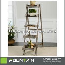 Modern Home Bookshelf Folding Design Ladder Shelf
