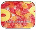 شكل حلقات اللون الخوخ المغلفة بالسكر المضغالحيوانات عرق السوس الحلوى غائر هلام