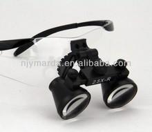 Flip-up Galilean binocular dental/jewelry CM2.5X magnifier/glasses/Optical Loupes