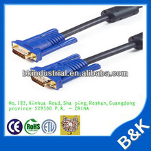 High quality 1.5m male to male VGA to VGA 3+4 Cable for PC or laptop