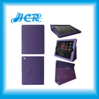 Purple Auto sleep function hot selling pu leather case for ipad 4 3 2