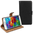 Genuine Wallet Leather Case for Samsung Galaxy S5 S V with Stand Function