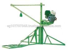 Egyption Portable Mobile hoist Mini Crane For Construction Material