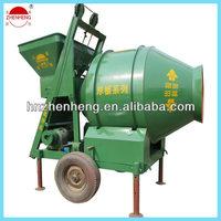 Climbing hopper! Rotating drum! Rubber ring drive!Electric motor! Zhenheng JZM350 small industrial machinery on sale