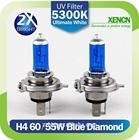 New XENCN H4 12V 60/55W 5300K Xenon Blue Diamond Car Light More Bright UV Filter Halogen Super White Head Lamp