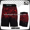 crossfit mens spandex lycra pantalones cortos mma personalizado negro pantalones cortos