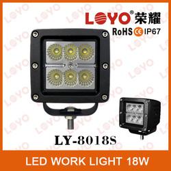 Motorcycle lamp IP67 LED working light, 18w 12 volt automotive led lights