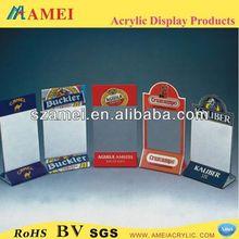 2015 HOT SELL transparent 4x6 plastic menu holder