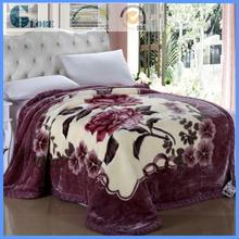 acrylic polyester queen jacquard raschel blanket