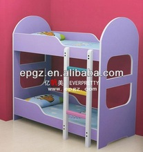Colorful Wood Kid Bed With Slide Double Beds