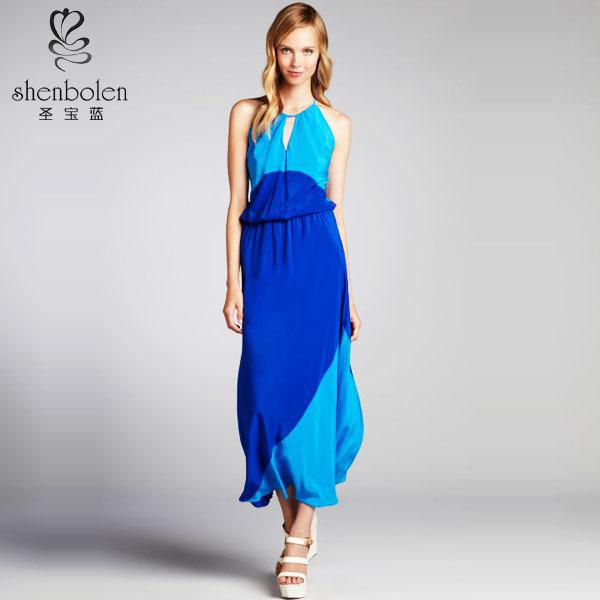 تعليق على الرقبة تصميم فريد m2309 الصيف يجب-- يملكون اللون حجب ماكسي فستان للفتيات الصين مورد oem