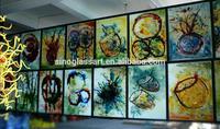 Hotel Corridor romantic wall decoration art glass painting
