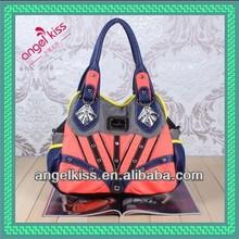 2014 ladies fashion handbag wash pu handbag China manufacturer soft handbag