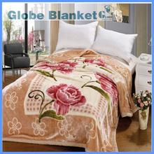 queen hotel soft acrylic raschel blanket