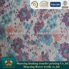100%polyester different types of prints on fabric