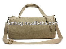Round Shaped Small Canvas Duffle Bag
