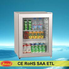 Home and hotel use 48L 70L 130L mini refrigerated showcase