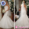 SA6927 Brilliant strapless burgundy and white wedding dress wholesale