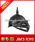 Brushed silver Plastic roman armor medieval leather helmet with mask