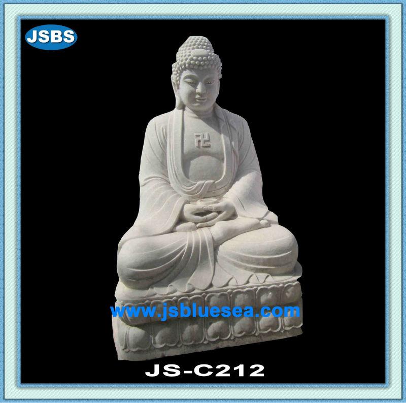 Gautam Buddha Statue in Water White Gautam Buddha Statue
