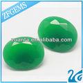 de vidrio verde oval forma de huevo sintético cuentas de jade hotsale en el brasil