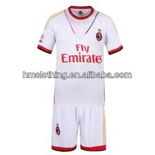 Cheap sportwear soccer team uniforms AC MILAN,soccer uniform set