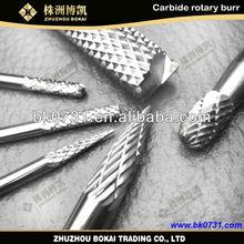 Zhuzhou BOKAI high quality carbide rotary tool set for dental casting machine