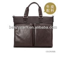 fashion tote bag design real leather man handbags