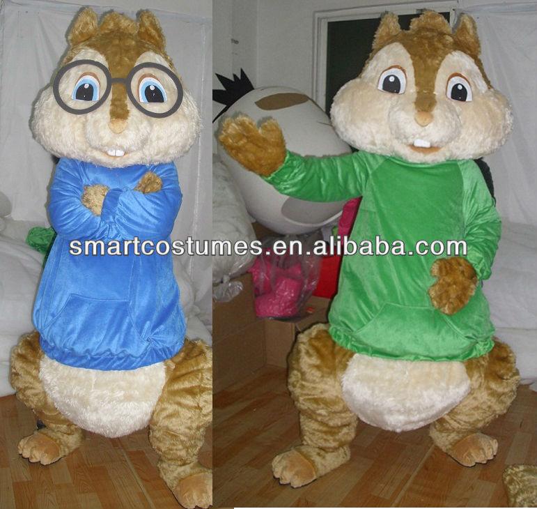Alvin Chipmunks Costume Alvin Chipmunks Mascot Costume