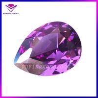 8*10mm amethyst pear cut loose rough gemstone