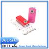 Wholesale manufactory 3000mah OEM mini portable power bank